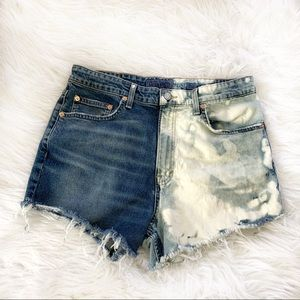 Lucky Brand jeans distressed denim shorts size 31